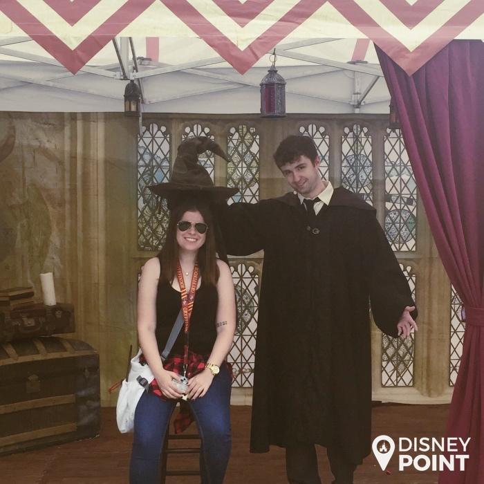 Uma das coisas que você pode fazer no evento A Celebration of Harry Potter: ser sorteado na sua casa de Hogwarts pelo Chapéu Seletor!