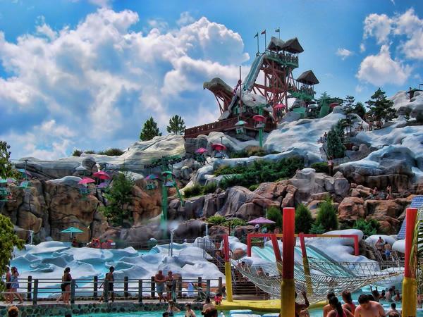 O Blizzard Beach fica bem próximo ao Animal Kingdom