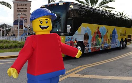 O shuttle da Legoland tem um custo de US$5,00 por pessoa