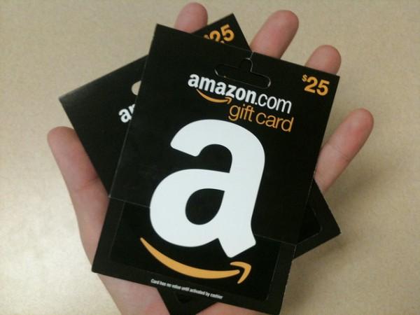 os gift cards da Amazon!