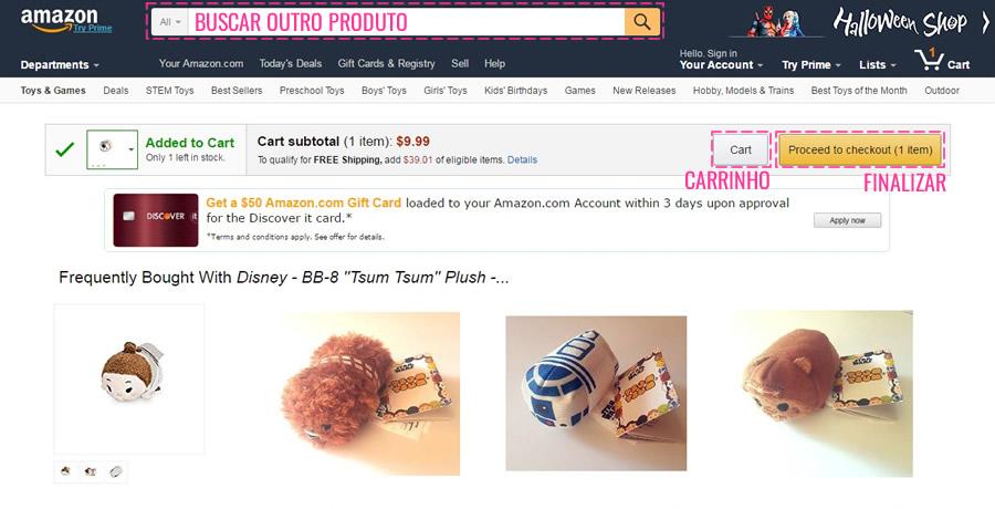 segura a tentação! nessa página a Amazon vai recomendar produtos que você provavelmente (certamente!) vai querer comprar também!