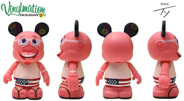 essa coisa de ficar com queimadura na Disney é tão real, que a série de bonecos colecionáveis Vinylmation tem até uma edição de visitante queimado! hahahahha