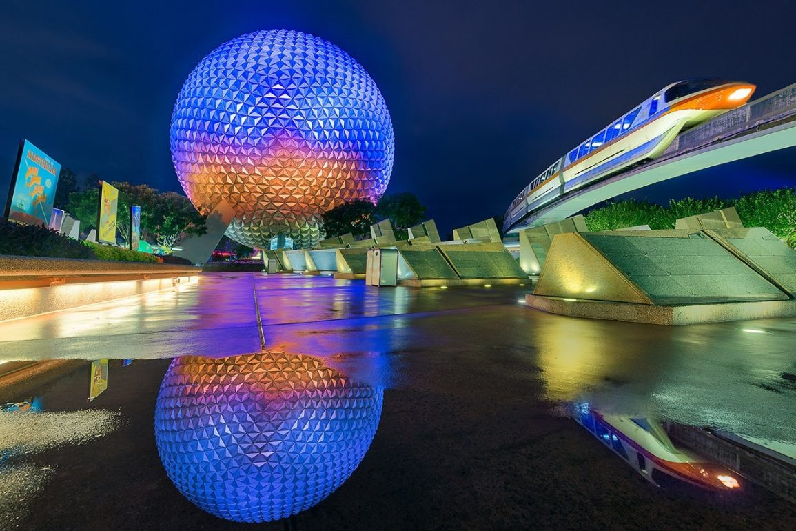 a-monorails-reflection-of-spaceship-earth