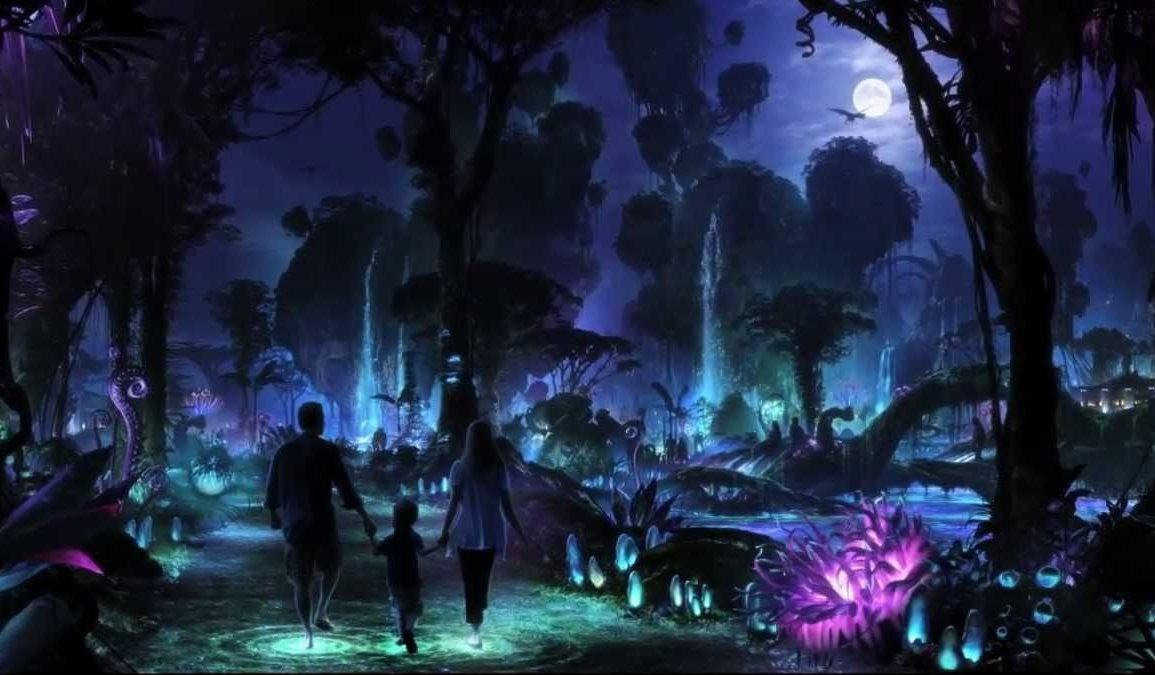 Disney Point Avatar Animal Kingdom Pandora a noite
