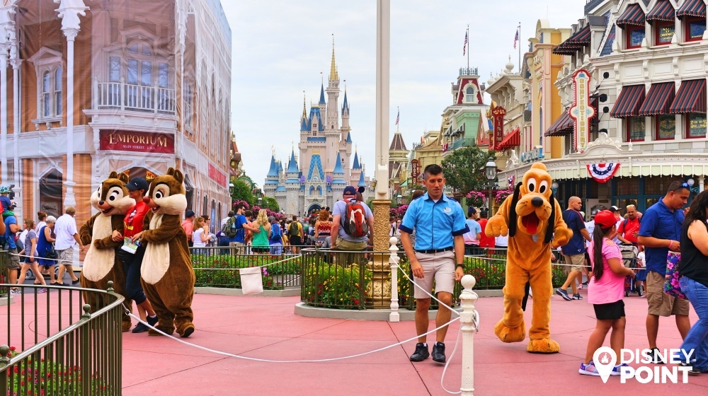 Personagens no Magic Kingdom em Orlando