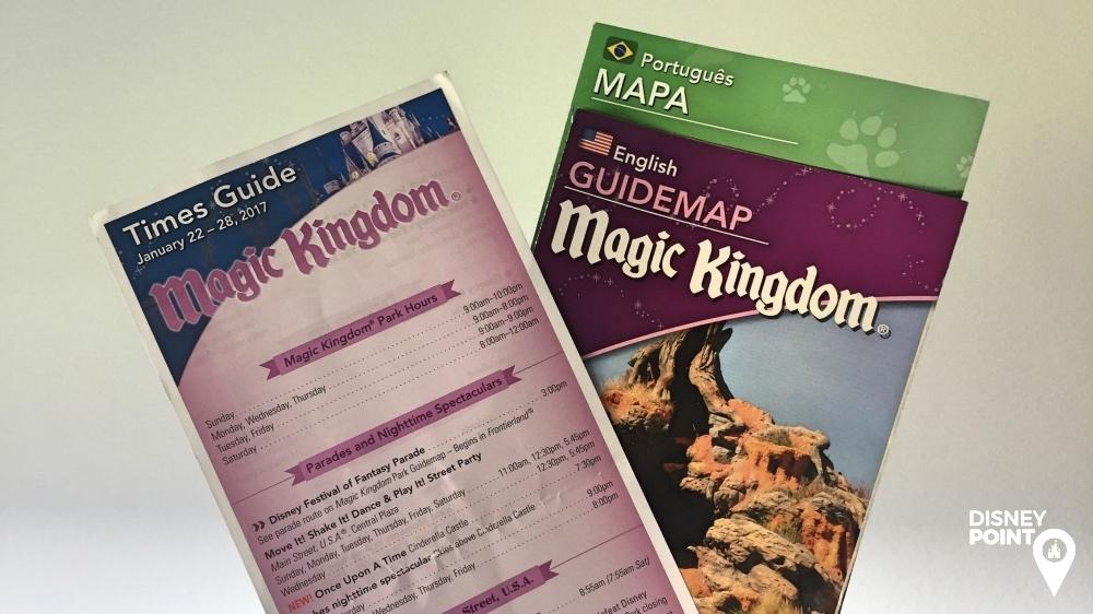Mapa e Times Guide Disney