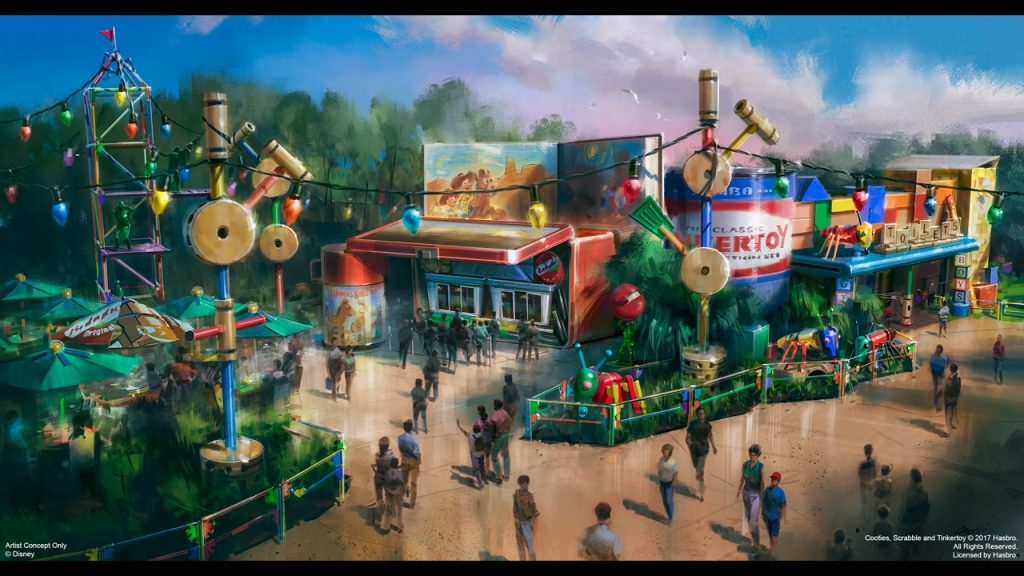Nova área de Toy Story no Hollywood Studios Restaurante Woodys Lunchbox
