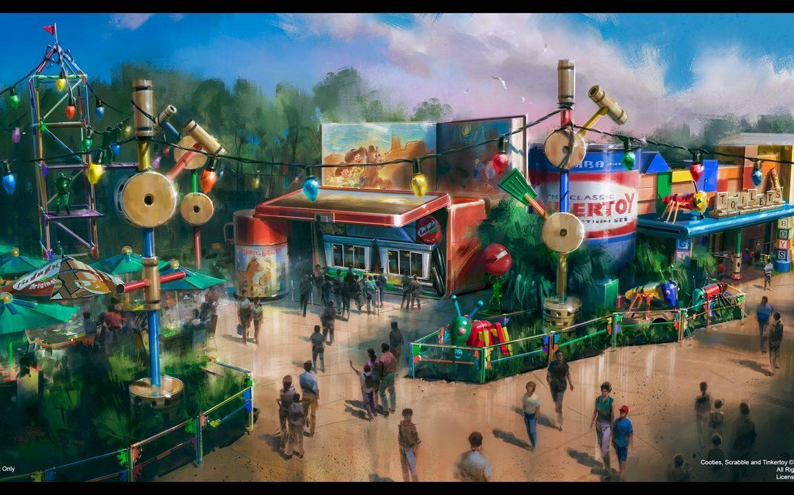 Nova área de Toy Story no Hollywood Studios Restaurante Woodys Lunchbox