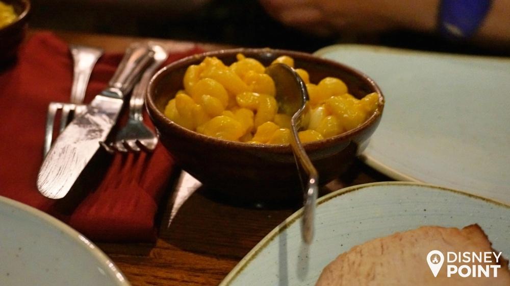 O macarrão com queijo servido no Liberty Tree Tavern. Nada diferente dos que a gente encontra pela Disney toda.