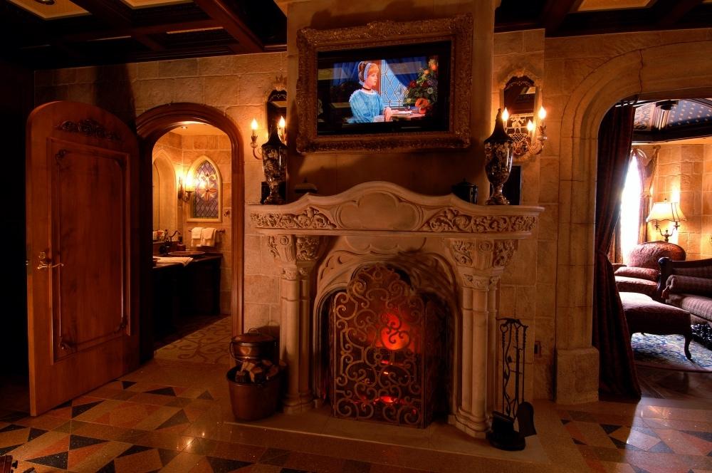 Disney Point Suite Castelo Cinderella Magic Kingdom Quarto Lareira