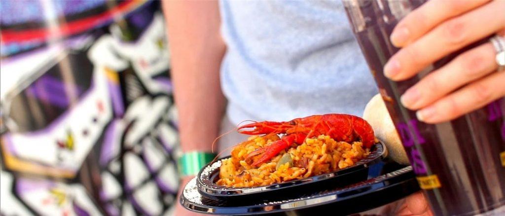 Frutos do mar não faltam entre as opções da Festa de Mardi Gras!
