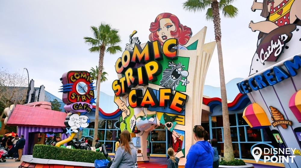 Comic Strip Cafe, com opções bem variadas para o almoço