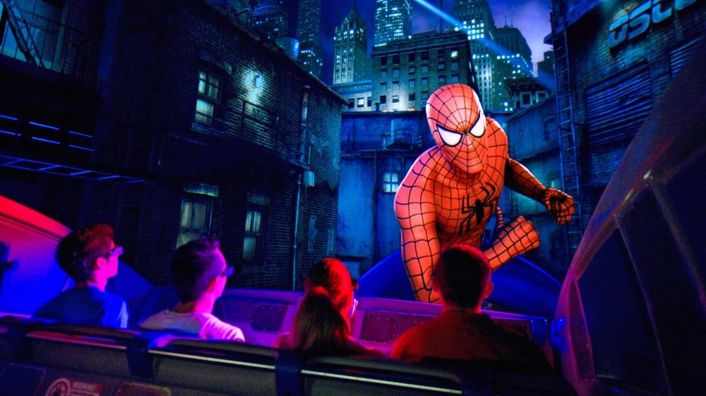 O simulador do Homem-Aranha, que faz sucesso entre adultos e crianças.