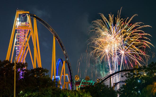 Disney Point Busch Gardens Summer Nights Fogos