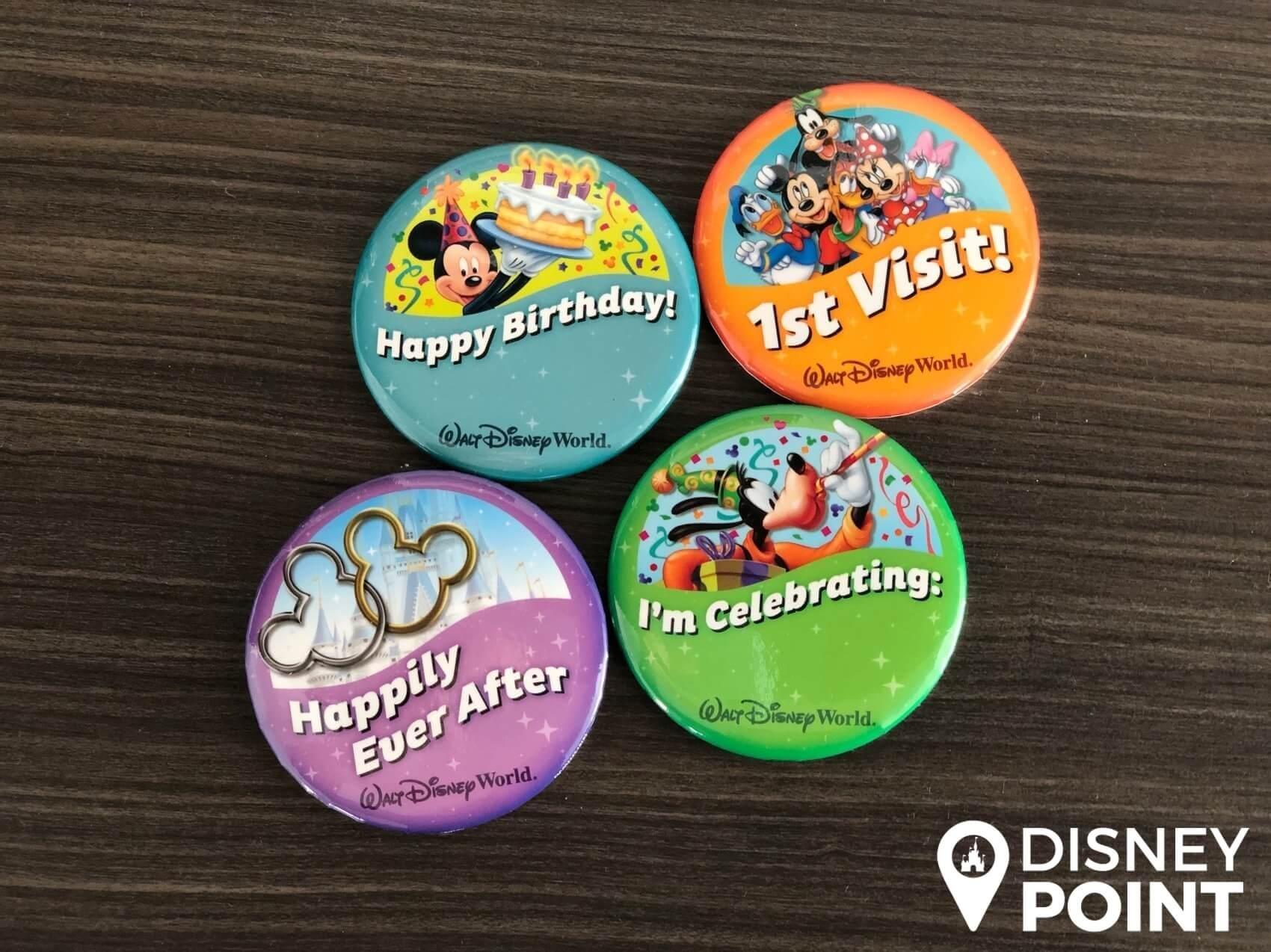 Disney Point Button Grátis Disney Visita Aniversario Lua de Mel Celebração-min