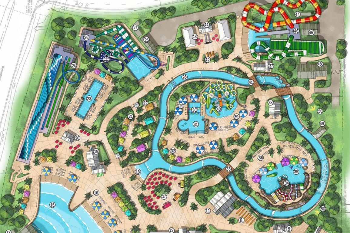 Disney Point Island H20 Live Margaritaville Orlando Mapa Parque Aquatico