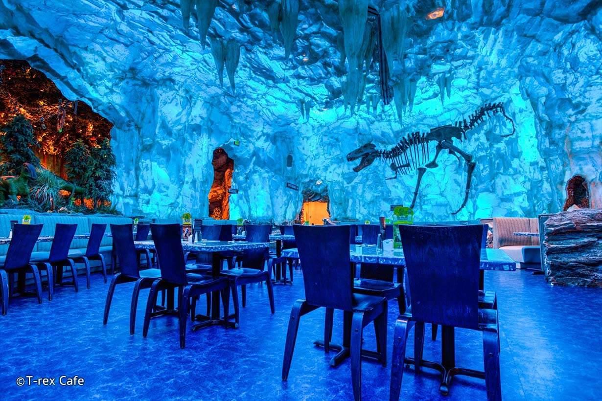 Disney Point Springs T-Rex Café Dinossauros Orlando