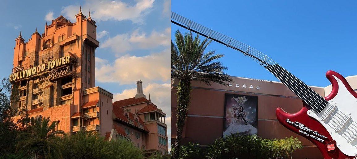 Disney Point Tower of Terror e Rock n Roller Coaster