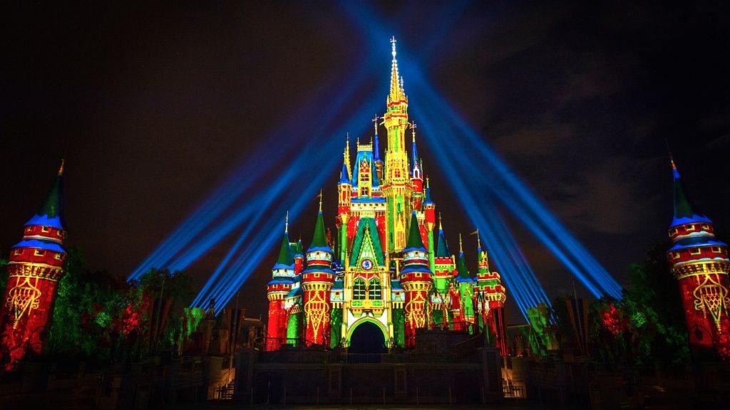 Projeções de Natal 2020 da Disney