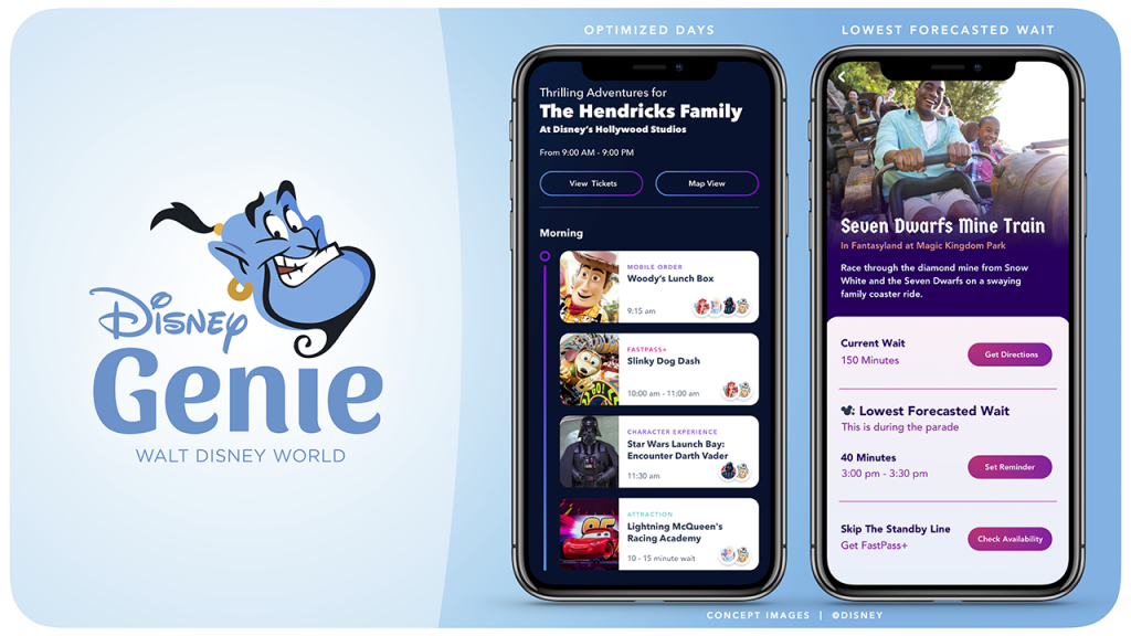 Disney Genie Layout