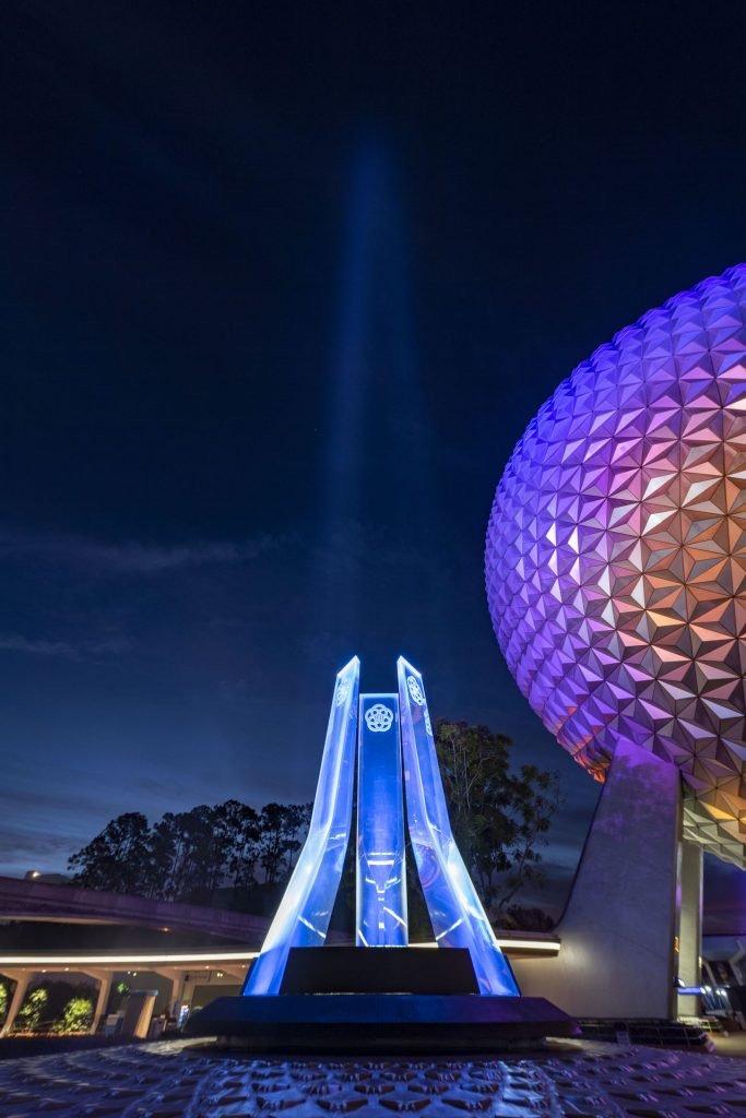 nova iluminação nova fonte entrada Epcot Disney
