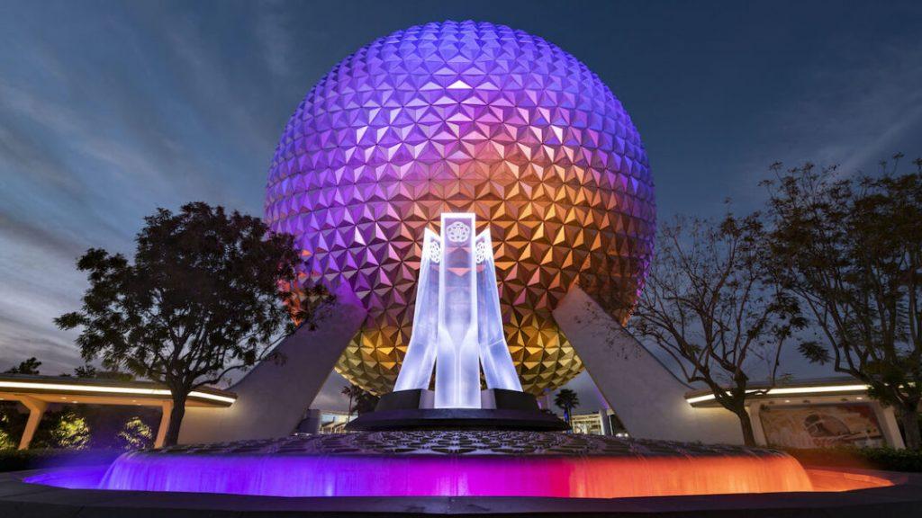 nova fonte entrada Epcot Disney