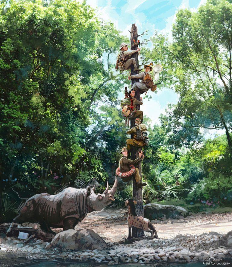 Disney conta história dos novos personagens da atração Jungle Cruise