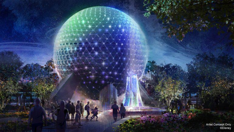 Disney anuncia novo visual da Spaceship Earth no Epcot 50 anos