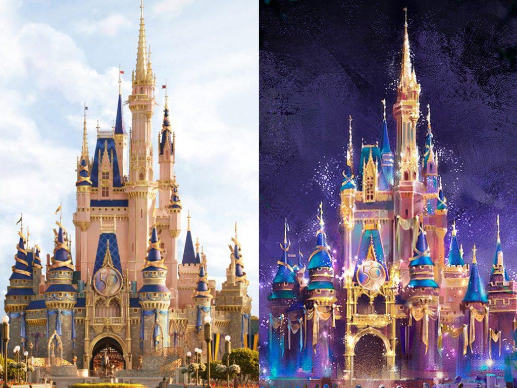 50 anos Walt Disney World castelo