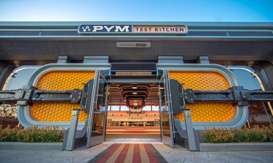 A entrada do restaurante Pym Test Kitchen