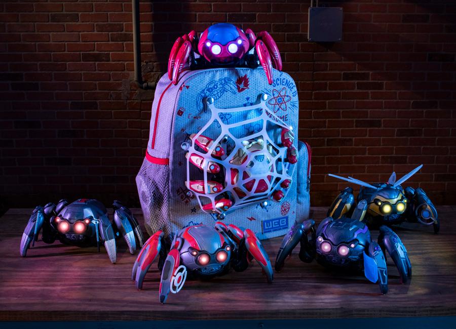 Os diferentes modelos do Spider-Bot