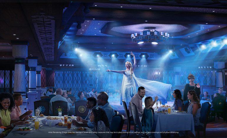 O Disney Wish terá restaurantes com temas de Frozen, Marvel e mais
