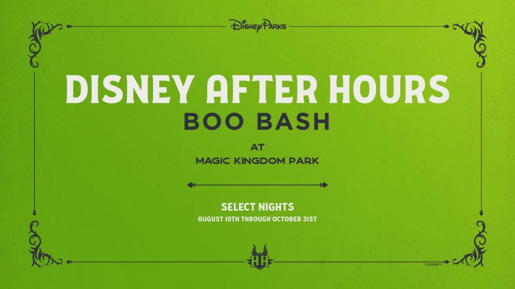 Halloween 2021 Disney Boo Bash