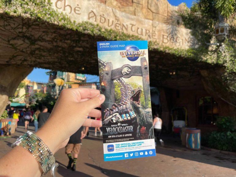 Universal Orlando Resort lança novo mapa com VelociCoaster